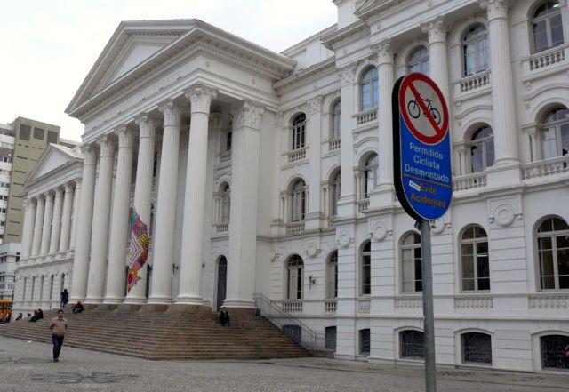 Edifício histórico no centro de Curitiba