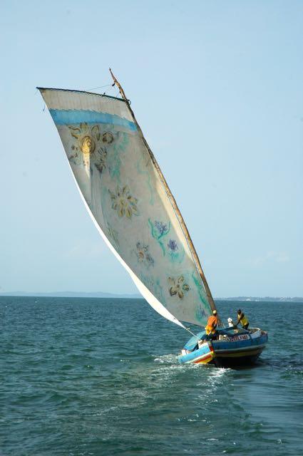 O saveiro é a embarcação típica do Rio Paraguaçu.