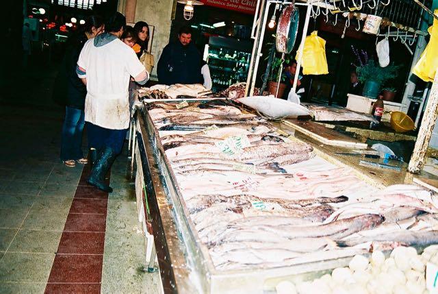 O Mercado de Peixes de Santiago.