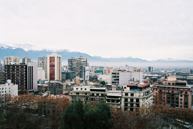 Vista panorâmica de Santiago.