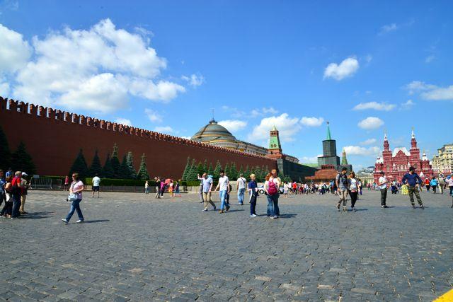 A muralha do Kremlin na Praça Vermelha