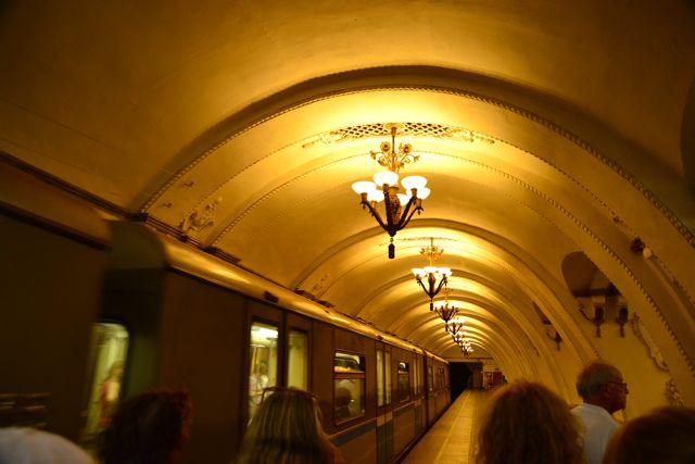 O metrô de Moscou