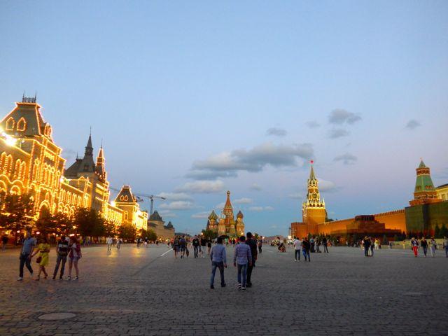 O primeiro encontro com a Praça Vermelha em Moscou