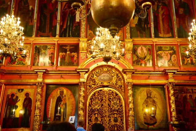 A Iconóstase da Catedral da Anunciação.