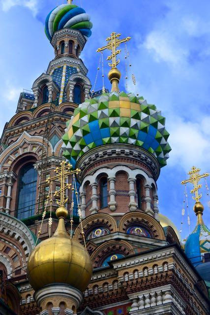 Detalhes das cúpulas da Catedral do Sangue Derramado