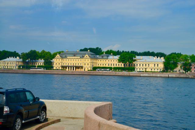 Os prédios da Universidade Federal de São Petersburgo