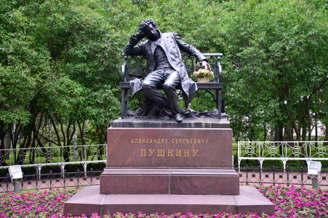 Pushkin, o maior de todos os poetas russos.