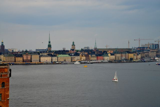Bela vista de Estocolmo a partir do mirante.