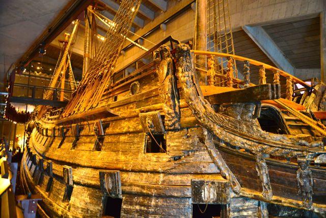 Foi construído um edifício ao redor do Barco Vasa.