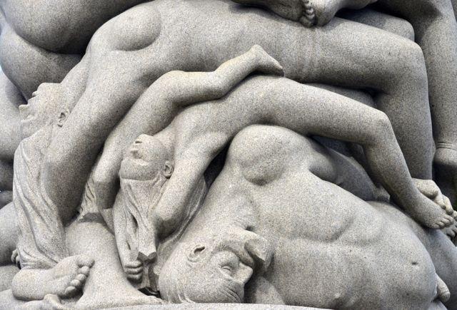 Detalhe de escultura de Vigeland