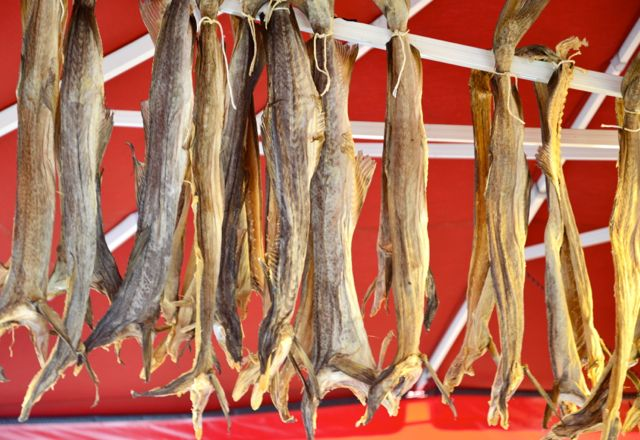 Bacalhau seco no Fish Market.