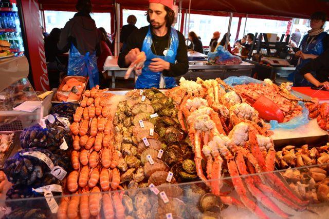 O Mercado de Peixes de Bergen.