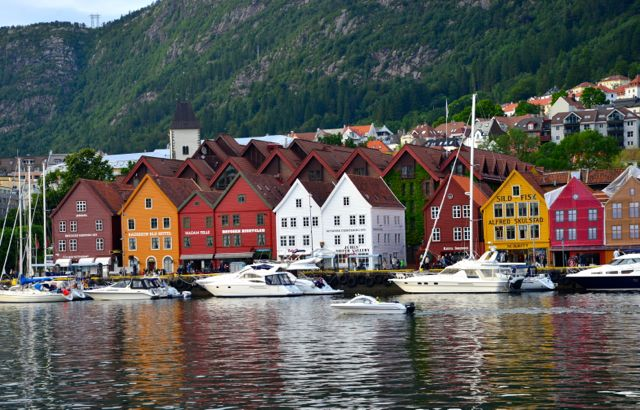 A bela cidade de Bergen.