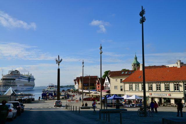 O centro de Stavanger.