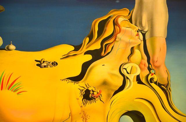 Detalhe de O Grande Masturbador, de Dalí.