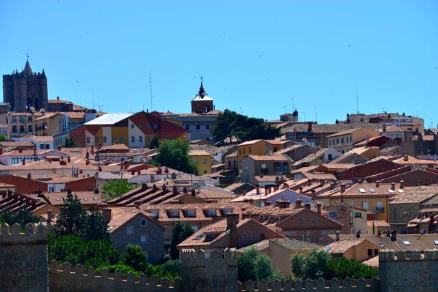 A cidade antiga de Ávila.