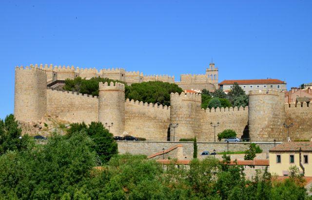 A bela cidade murada de Ávila.