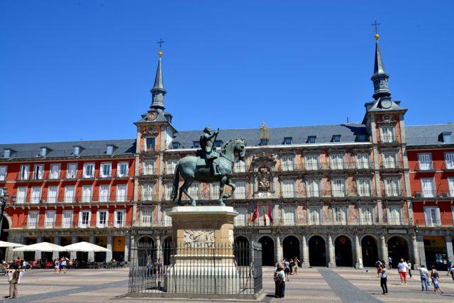 Praça Mayor, um dos símbolos de Madri